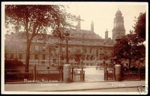 leicestershire LEICESTER, Municipal Buildings 1920 RPPC