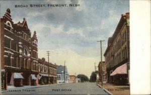 Fremont NE Broad St. c1910 Postcard