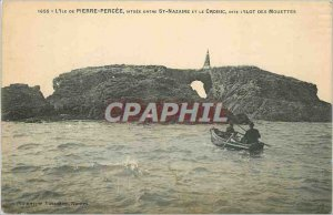 Old Postcard Island of Pierre-Percee situated between St Nazaire and called C...