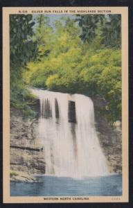 North Carolina colour PC Silver Run Falls Highlands Section, unused