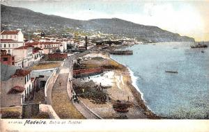 Portugal Old Vintage Antique Post Card Bahia do Funchal Madeira Unused