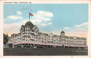 Sam-O-Set Hotel, Rockland, Maine, Early Postcard, Used in 1926