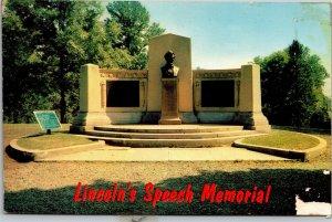 Postcard PA Pennsylvania Gettysburg Address Lincoln Speech Monument Unposted