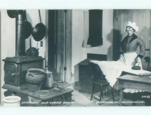 Pre-1950 rppc GREENBUSH By Plymouth & Sheboygan & Fond Du Lac WI i9816
