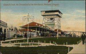 Portland OR Council Crest Dreamland Amusement Park c1910 Postcard