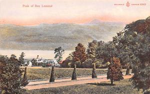 Scotland, UK Old Vintage Antique Post Card Peak of Ben Lomond Unused