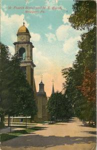 Newport PA~Afternoon @ United Methodist Episcopal Church~1915 Postcard