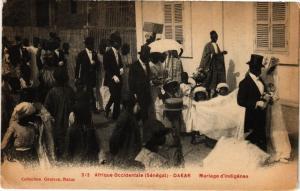 CPA Senegal-Dakar-Marlage d'indigénes (235397)