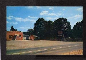 VA Double B Motor Court Cabins Ellerson nr Richmond Virginia Postcard