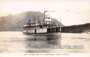 Real photo - Str Tutshi WPYR Carcross, Yukon, Canada Ship Postcard Post Card ...