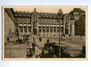 246788 FINLAND Helsinki Railway station CAR Vintage postcard