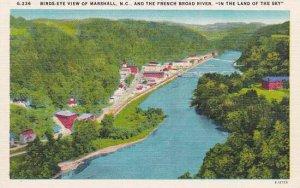 North Carolina Marshall Bird Eye View Of Marshall And The French Broad River ...