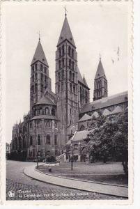 Tournai , Belgium , La Cathedrale. Vue de la Place des Acacias, 20-30s