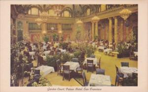 Garden Court Dining Room Palace Hotel San Francisco California