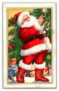 20769    SANTA CLAUS    lighting candle on tree