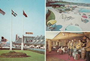 MONTREAL, Quebec , Canada , 40-60s; Le Lucerne Motel, Swimming Pool, Band, Front