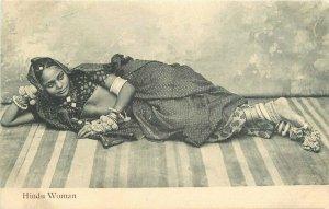 Hindu Woman Interior undivided Postcard 10486