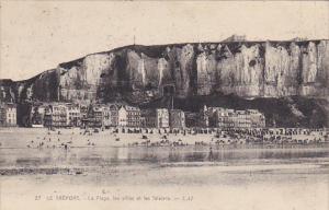 France Le Treport Mers La Plage les villas et les falaises 1921