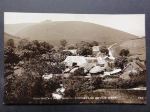 Sussex: Saddlescombe Farm & Devil's Dyke showing Hay Stacks - Old RP Postcard