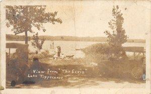 G73/ Lake Tippecanoe Indiana RPPC Postcard c1920s The Ervin Boat Pier