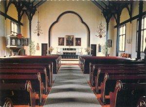 Religious art Postcard Scandinavian church interior altar organ aneboda