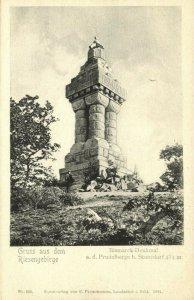 poland, STANISZÓW STONSDORF, Riesengebirge, Bismarck-Denkmal (1901) Postcard