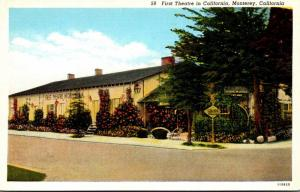 California Monterey First Theatre In California Curteich