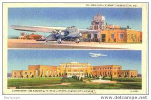 Municipal Airport, Kansas City, Missouri, MO, Linen