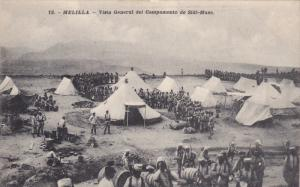 MELILLA, Spain, 1900-1910s; Vista General Del Campamento De Sidi-Muza