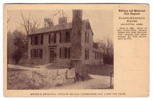 1907-15 Jonas Clark-Hancock John Sam Adams House Lexington MA RARE Ad Postcard