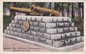 Wisconsin Sheboygan Spanish War Veterans' Monument 1920