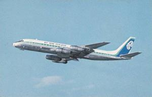 Air New Zealand DC-8 jet airplane , 60-70s