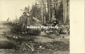 Silverton, Oregon, Large Lumber Saw, Logging Lumbering (1910s) RPPC