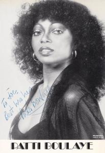 Patti Boulaye New Faces Singer 1970s DOUBLE Hand Signed Photo