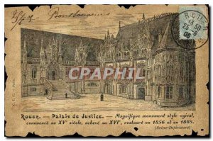 Old Postcard Rouen Courthouse