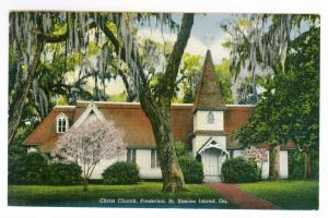 Brunswick, Georgia to Milwaukee, Wisconsin 1945 used Postcard, Christ Church