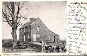 Connecticut Torrington John Brown's Birthplace 1906