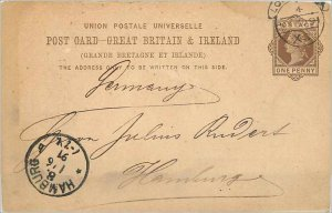 Entier Postal Stationery Postal Great Britain Great Britain 1891 London to Ha...