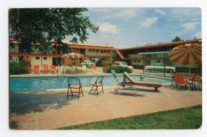Postcard El Patio Motel San Angelo Texas Standard View Card Old Cars Pool