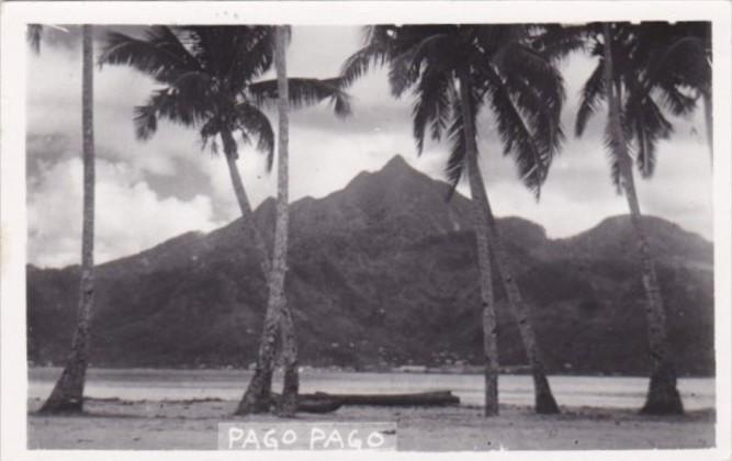 Samoa Pago Pago Island Scene Real Photo