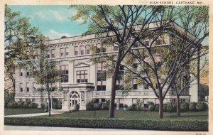 CARTHAGE, Missouri, 1900-1910's; High School