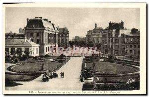 Old Postcard Rennes Avenue Janvier view of Palace Square Saint Georges