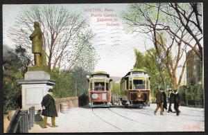 Public Garden Entrance to Subway Boston Massachusetts Used c1907