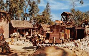 Prospectors rest at the Old Arastra Knott's Berry Farm, Ghost Town, Californi...