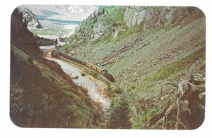 Narrow Gauge Railroad Train Aerial View Silverton CO Animas Canon Vntg Postcard