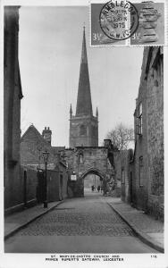 St Mary de Caustro Church and Prince Rupert's Gateway Leicester Postcard