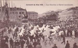 France Carnival de Nice 1928 Les Cocottes a Cheval cavalcade
