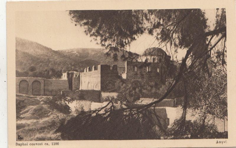BF32676 daphni convent    greece   front/back image