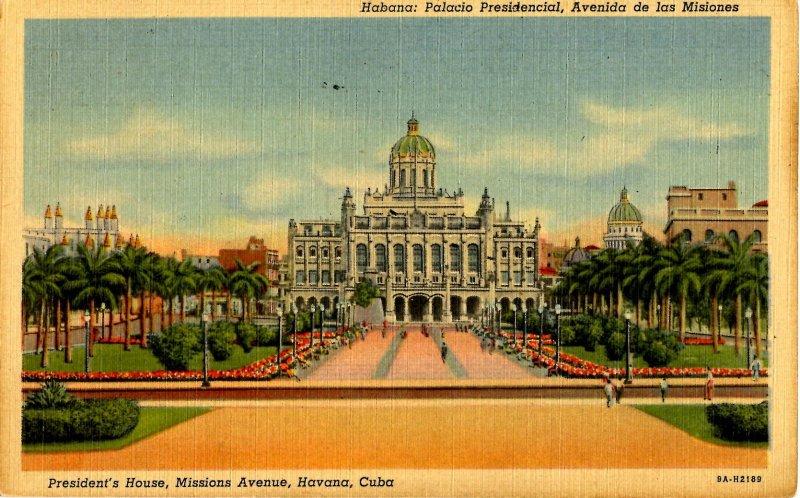 Cuba - Havana. Missions Avenue, Presidents House
