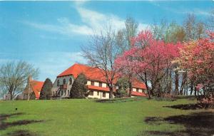 Pokagon State Park Indiana-Potawatomi Inn~Blossoming Trees~near Angola~Postcard